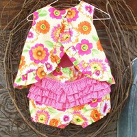 Baby Dress With Ruffled Bloomers, 12 Months, Reversible | Luulla