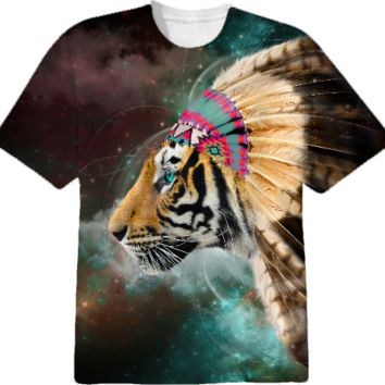 Fight For What You Love • Chief of Dreams: Tiger Unisex T-Shirt created by soaringanchordesigns | Print All Over Me