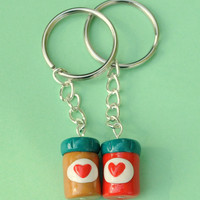 Best Friend Keychains Peanut Butter and by PumpkinPyeBoutique
