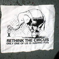 Rethink the Circus screenprinted patch