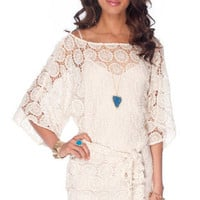 Dream Catcher Dress in Cream :: tobi