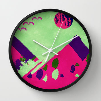 Watermelon  Wall Clock by SensualPatterns