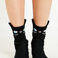 Cat Socks in Black - Urban Outfitters