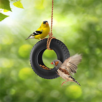 Swing Time Mini Tire Bird Feeder
