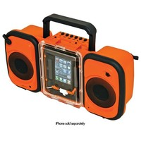 Grace Digital - Eco Terra Waterproof Speakers for Apple® iPhone® and Most MP3 Players - Orange