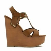 Cut It Out Strappy Wedges