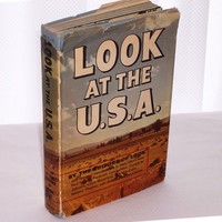 1955 Look at the U.S.A. Book History Pictures Country Civilization