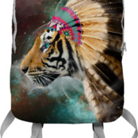 Fight For What You Love • Chief of Dreams: Tiger Backpack (Limited Edition) created by soaringanchordesigns | Print All Over Me