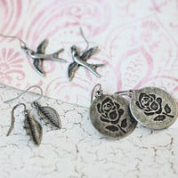 profound nature trio set of earrings - &amp;#36;18.99 : ShopRuche.com, Vintage Inspired Clothing, Affordable Clothes, Eco friendly Fashion