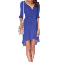 Darling Wrap Dress in Purple :: tobi