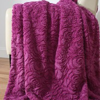 Luxe Rose Fur Throw - New Arrivals