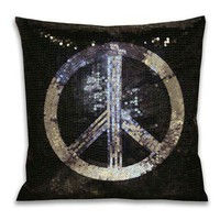 Sequin Peace Pillow - New Arrivals