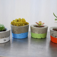 Concrete Planter - SINGLE planter - Indoor Outdoor Planter - Wedding Decor