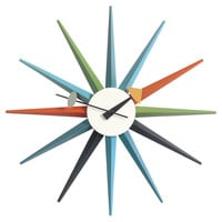 You should see this G. Nelson Sunburst Wall Clock on Daily Sales!