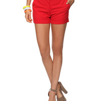 Cuffed Trouser Shorts | FOREVER21 - 2000028977