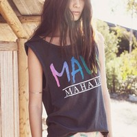 Maui Mahalo Tank in Grey by Chaser LA at TAGS