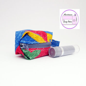 Chapstick holder, sewing pattern, pdf tutorial, zip pouch, keychain zip purse