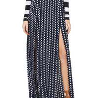 MICHAEL Michael Kors Pleated Double-Slit Maxi Skirt