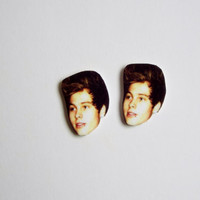 Luke Hemmings Earrings Celebrity Studs Funny Novelty Gift