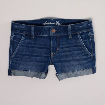 Denim Trouser Midi Short