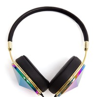 FRENDS | Taylor Large Holographic Metal Headphones | Browns fashion & designer clothes & clothing