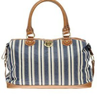 ASOS | ASOS Holdall In Ticking Stripe Fabric at ASOS