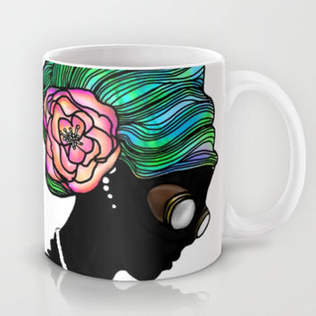 Goggley Girl Mug by Ben Geiger