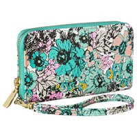 Merona® Floral Zip Around Phone Case Wallet with Removable Wristlet Strap - Blue