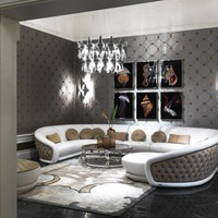 Tufted upholstered sofa SONHOS by Visionnaire | design Roberto Lazzeroni