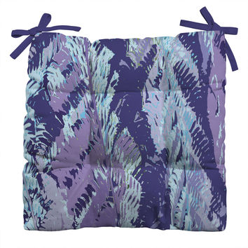 Rosie Brown Amethyst Ferns Outdoor Seat Cushion