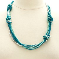 Knotted & Beaded Necklace