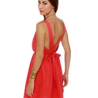 Cute Red Dress - Sleeveless Dress
