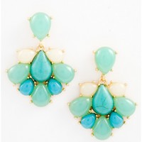 Floral Gem Dangle Earring