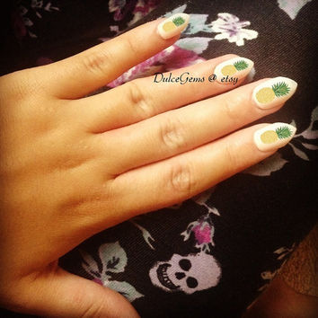 Summer Pineapple Nail Decals