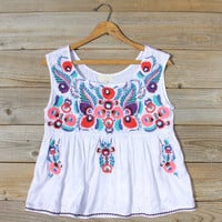 Flores Embroidered Blouse