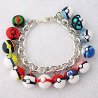 Custom Pokeball Bracelet Your Choice of 14 by egyptianruin