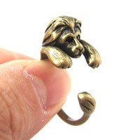 Realistic Lion Animal Wrap Around Ring in Brass - Sizes 4 to 9 Available -