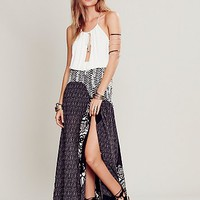 Free People Womens Little Dreamer Skirt - Black and White,
