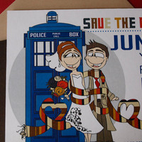 Dr Who Inspired Save the Dates DIY Printable PDF by littletoad
