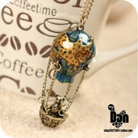 1PCS Vintage Unique design fire balloon Pendant chain necklace free shipping | eBay