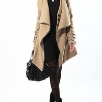 Long wool coat cashmere irregular autumn winter warm 021 | funnygirl5588 - Clothing on ArtFire