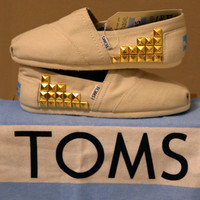 PRICE REDUCED Custom studded TOMS shoes by CatalindaOFFICIAL