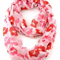 NYfashion101 (TM) Womens Lightweight Sheer Infinity Loop Scarf w/Kiss Lip Pattern