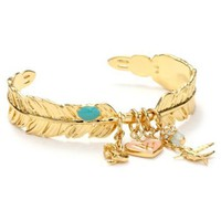 Wildfox Feather Bangle Bracelets - designer shoes, handbags, jewelry, watches, and fashion accessories | endless.com