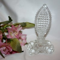Art Deco Crystal Perfume Bottle Lead Crystal 1920s Vanity