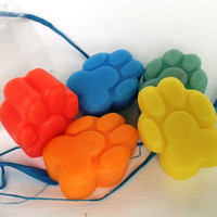 Colourful Paw Soaps by Scentcosmetics on Etsy