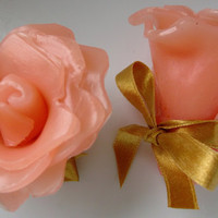 Peony Flower Soap Salmon coloured Small and by Scentcosmetics
