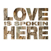 Love is spoken here  Typography Art Print  8x10 print by MursBlanc