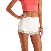 DAISY-CROCHETED HIGH-WAISTED SHORTS