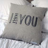 Karin Akesson I Adore You Cushion